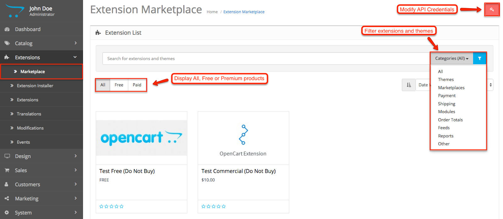 Marketplace OpenCart 3.0