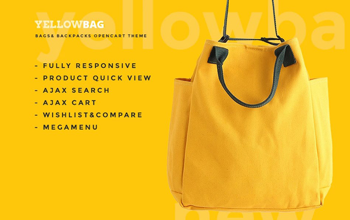 YellowBag OpenCart Template