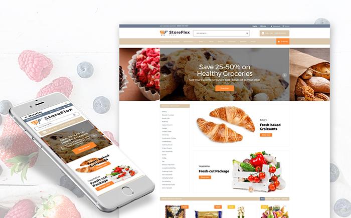 StoreFlex - Food Responsive OpenCart Template
