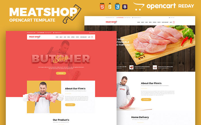 Meat Shop - OpenCart Template