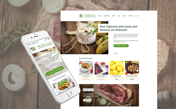 Agrilloc - Natural Products Store Responsive OpenCart Template