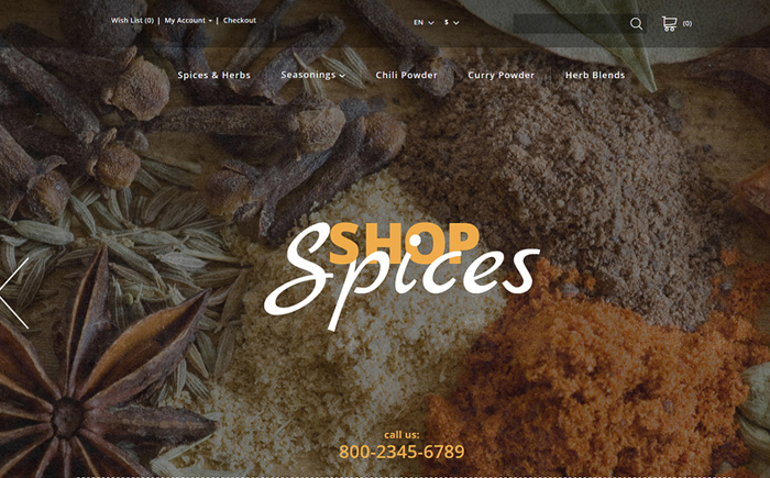 Spices OpenCart Template