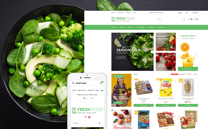 Healthy Food Store OpenCart Template