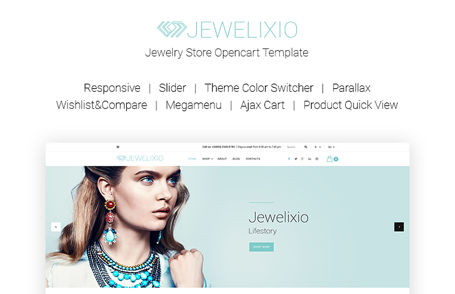 Jewelixio - Jewelry Store OpenCart Template