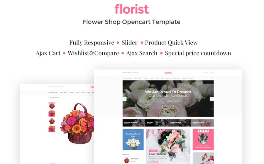 Flower Shop Open Cart Template
