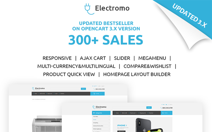 Electromo - Electronics Online Shop OpenCart Template