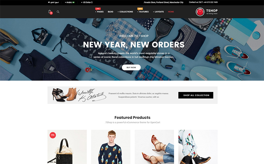 TShop - Fashion Shop OpenCart Template