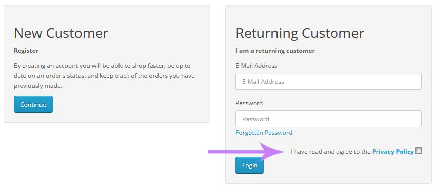 چک باکس فرم ورود