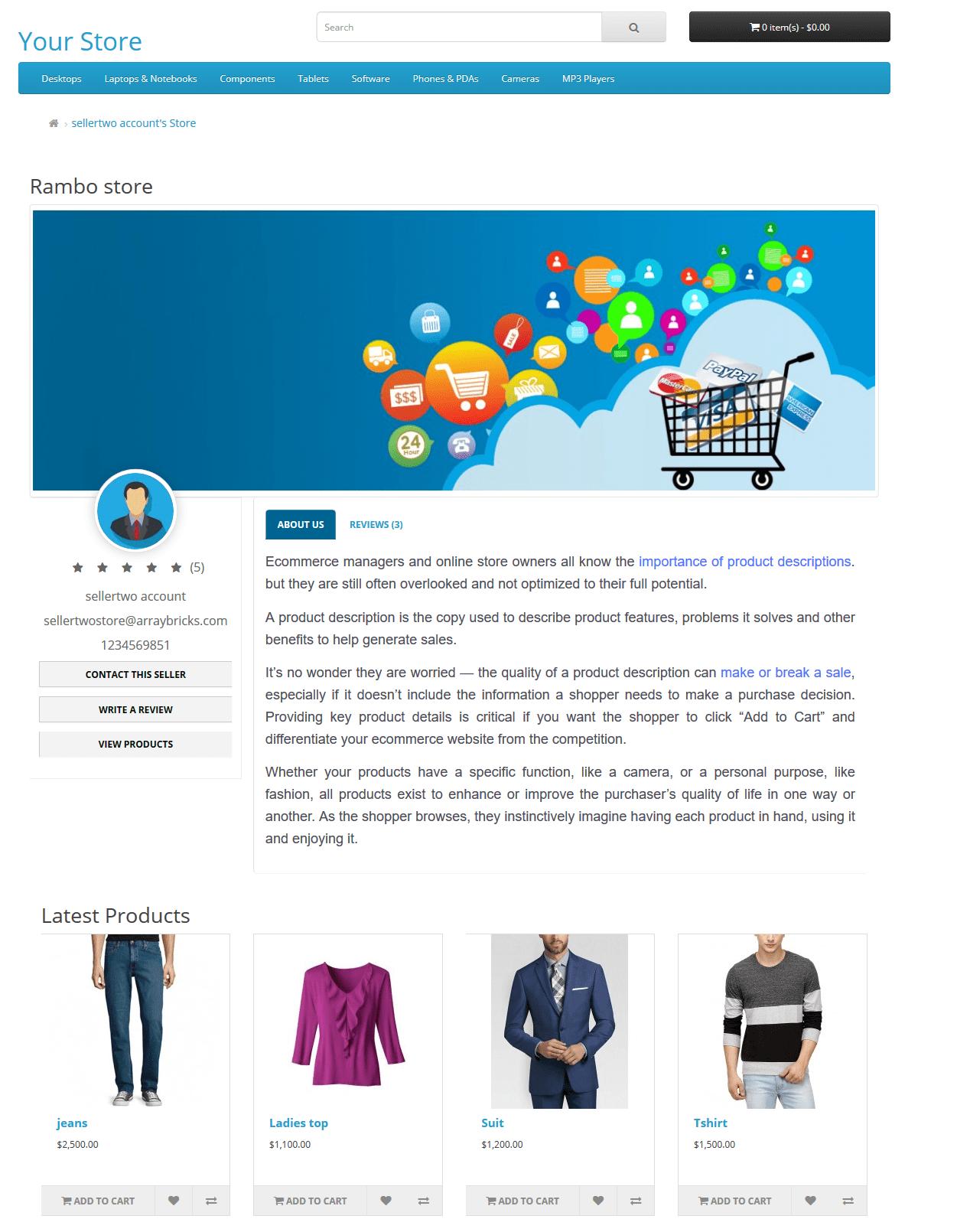OpenCart Multiseller Multivendor marketplace