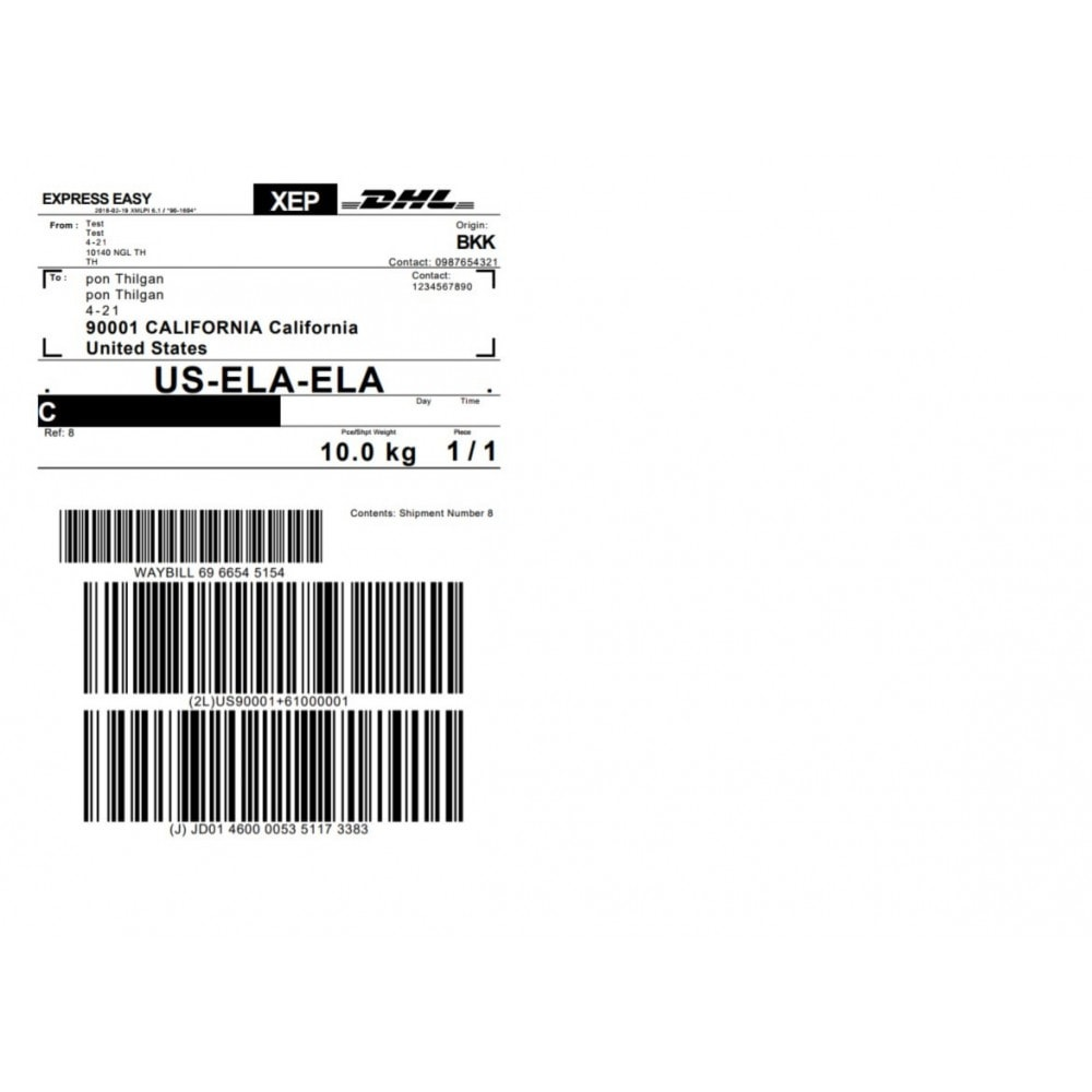 OpenCart - DHL Express Shipping with Print Label