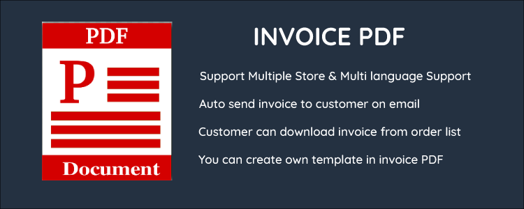 OpenCart - Advance Invoice Template Module