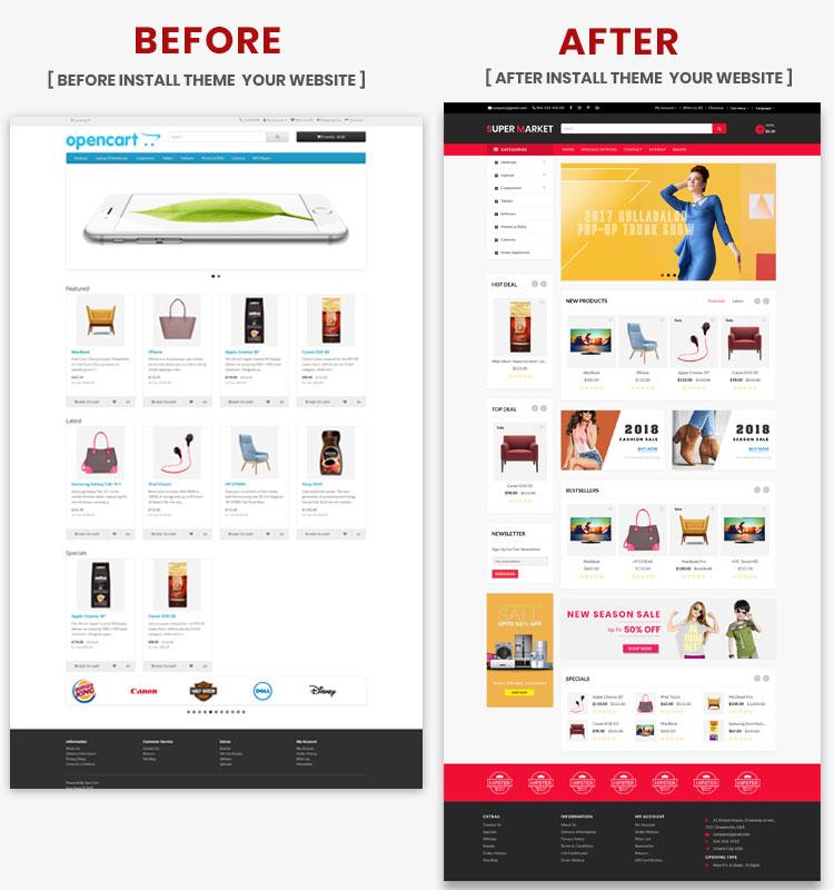 OpenCart - Super Market OpenCart 3 X Website Theme